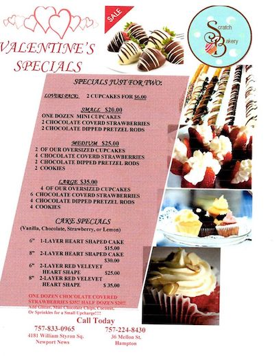 Scratch Bakery Valentine's Day Specials!