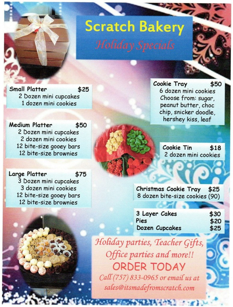 Scratch Christmas and Daily Specials!